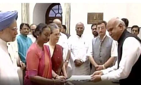 Presidential elections, Meira Kumar, Nomination, left parties