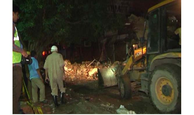 New Delhi, Building, Collapsed,Lachhmi Nagar
