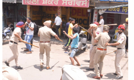 Patiala, Police, Lathi Charge, Dharna, Murder Case