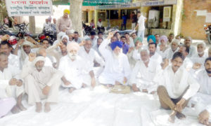 Farmers, Protest, Electricity Deptt. Haryana, Tubewell, Xen