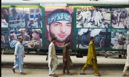 Engaged, Freedom, Pak Train, Terrorist Burhan Wani, Poster