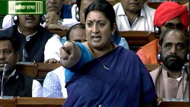 Simrati Irani, Parliament, Monsoon Session