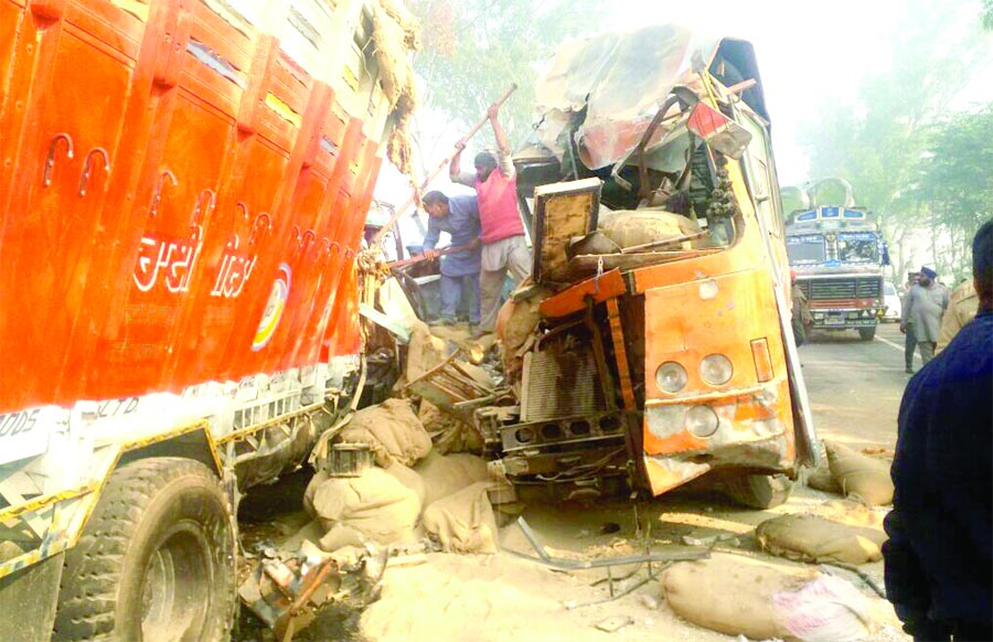 Deaths. Truck, Collision, PRTC, Bus, Accident