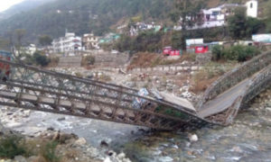 Bridge, Broken, Gangotri Highway, India, China