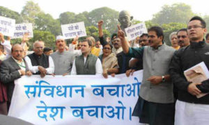 Congress, Protest, Against, Anant Kumar Hegde, Statement, Constitution of India
