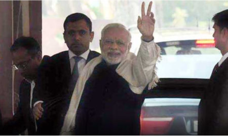 Narendra Modi, PM, Victory Mark, Gujarat, Assembly Election, Himachal