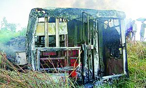 Bus, Displaced, Bihar, 27 Passengers, Killed, 5 Injured