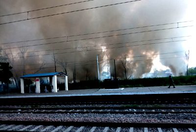Fire, Railway, Station