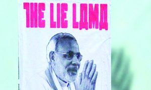 Modi, Poster, Walls, Delhi, Written, 'The Lai Lamas', Opposition, BJP