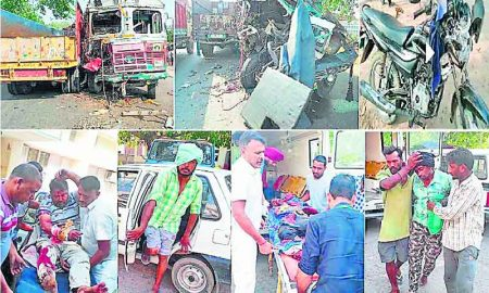 5 Injured, Road, Accident, Heavy, Vehicle