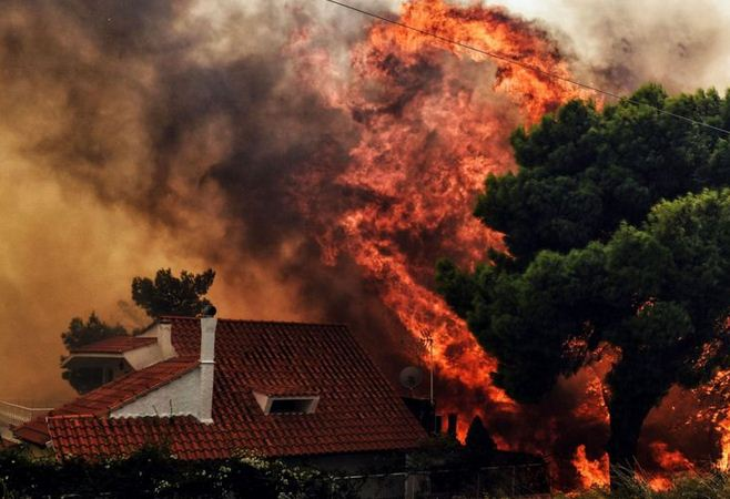 Deadly Fire In Greece, 74 Dead
