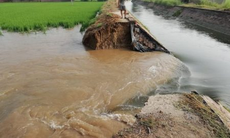 Abandoning, Excess, Water, Lakshman Canal, 20-Feet, Wide dip, Caused