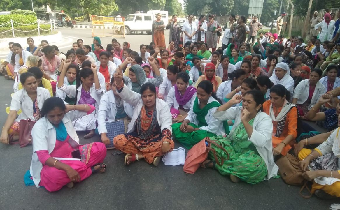 Only Two Nurses, Dharna, Reached, Gates, Moti Mahal, Chor Road