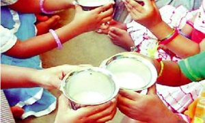 School, Students, Eat, Dry Milk, Kheer
