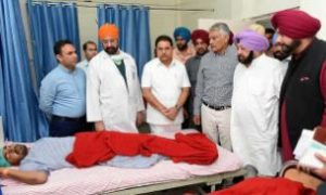 Captan Amarinder Singh, Meets, Injured, Train Accident