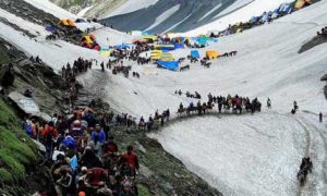 Amarnath yatra,. First Batch, Pilgrims, Jammu, Security