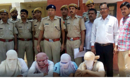Four, Arrested, Anandpal gang, Raj. Police