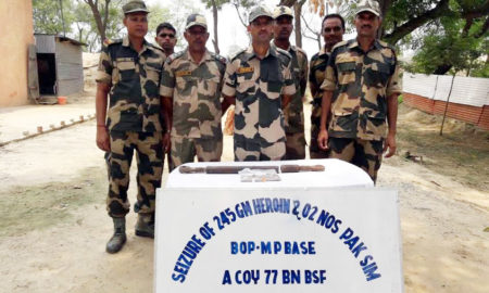 BSF, Seized,Heroin, Two Pakistani caps
