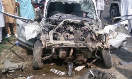 Accident, Car and Canter, Maur Mandi, Four Deaths , Three family members, top news