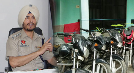 Thief Gang, Members, Arrested. Bathinda, Police, Motorcycles, Weapons, Recovered
