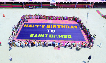 Dera Sacha Sauda, Gurmeet Ram Rahim,World Record, Birthday Celebration