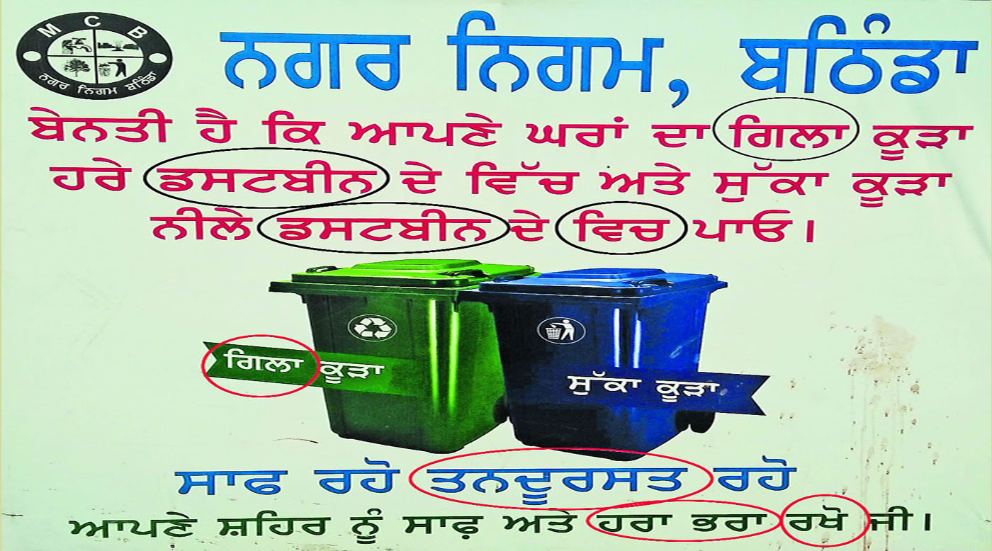 Mistakes, Punjabi Languagem Municipal Corporations, Bathinda, City, Falaxs