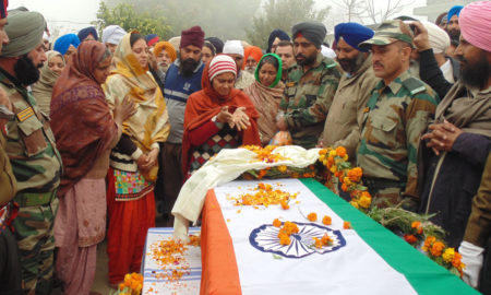 Martyr,  Jagsir Singh, Funeral. Government, Honors