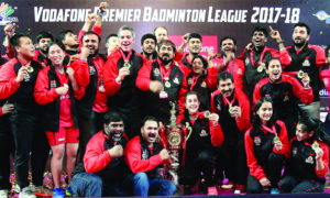 Hyderabad, Hunters, Won, Premier, Badminton, League