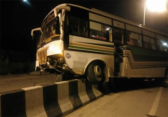 Bus, Disrupted, Balance, Rammed, Into, Driver, 7 Injured