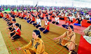 International ,Yoga, Day, Celebrated ,Dera, Sacha, Sauda