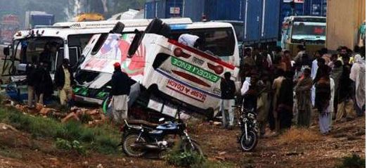 Bus, Collides, With, Truck, 18 Killed