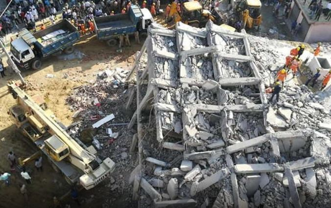Two, Buildings, Falling, Noida, Shahberi, 3 Deaths