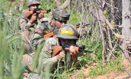 Two, Terrorists, Pile, Encounter, With, Security, Forces