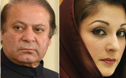 Nawaz Sharif, And, Daughter Miriam, Leave, For, Pakistan