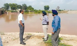 Visit, Ghaggar River, DC, Review, Situation