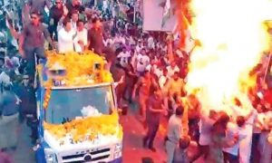 Rahul Gandhi, security, Utdai, Road Show, Explosion, No Injuries