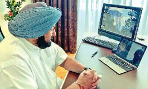 Chief Minister Amarinder, Reviewed Situation, Amritsar, Through, Video Conferencing, Tal Aviv