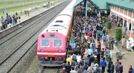 Train, Service, Kashmir, Started