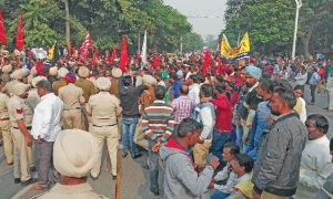 Striking Police, Cleaning, Workers, Moti Mahal