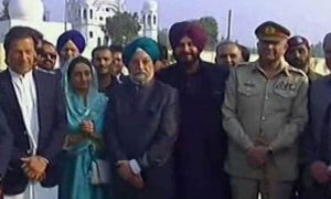 Katarpur Corridor Bole Sidhu took a lead on the foundation stone of Imran Khan