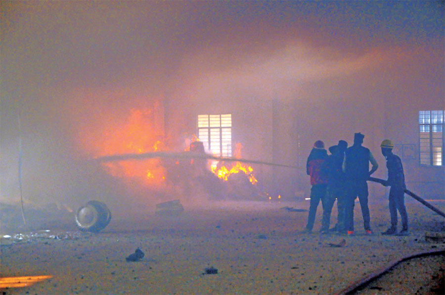 Explosion in the matchbox manufacturing factory