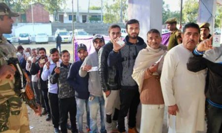 Voting, For, Sixth, Phase, Panchayat, Elections, Jammu, Kashmir