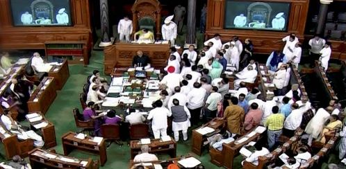 Ruckus Question time, In Lok Sabha Disrupted