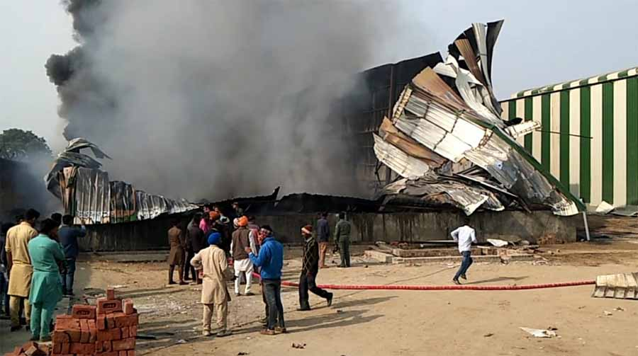Factory, Fire, Barnala, Dead, Laborers, Burn