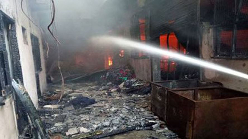 Millions of losses in factory fire