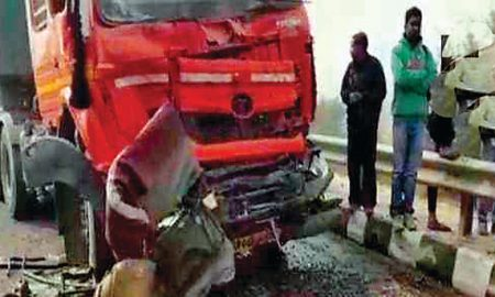 Eight dead in a road accident in Haryana