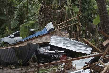 A tsunami, Indonesia, 168, deaths