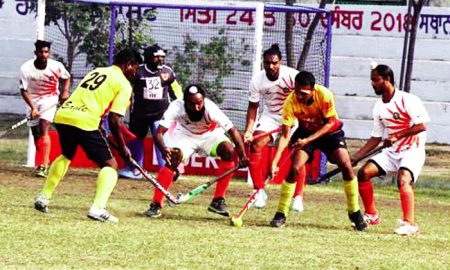 Punjab & Sind Bank, EME and Corps of Singlens, reached the quarter-finals