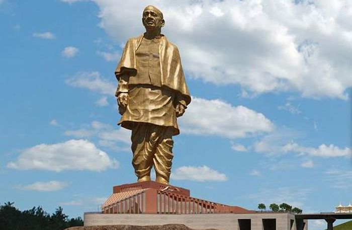 It can also be seen by the chopper 'Statue of Unity'