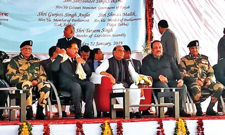 Rajnath Attari arrives, BSF Residential Complex inaugurated